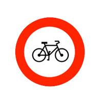 Fahrradfahren verboten