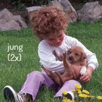 jung (2x Kind und Hund)